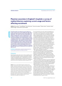 Physician associates in England's hospitals : a survey of